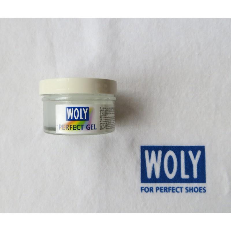 Woly-Lederpflege, Perfect Gel, Glasdose 50 ml