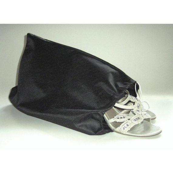 Schuhbeutel Schwarz, 46 x 35 cm