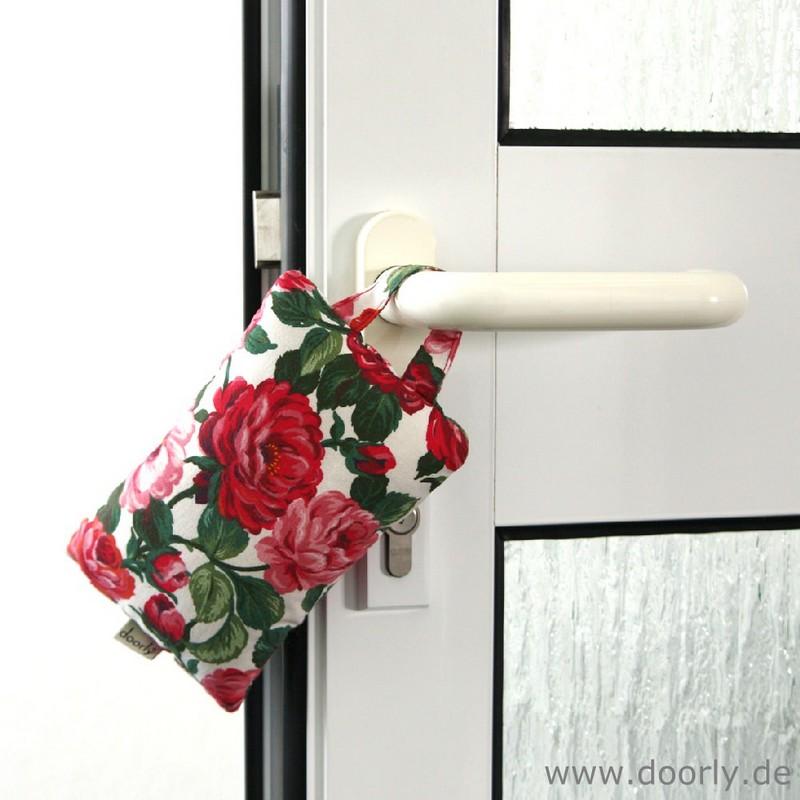 Türstopper - Fensterstopper Rosenkissen rot