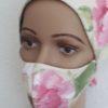 Mundschutz-Maske Sand-Rose, Mittelnaht