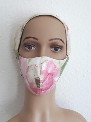 Mundschutz Maske Sand Rose